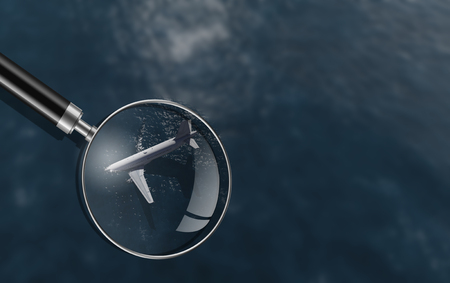 drowned: plane accident in a ocean 3d render Stock Photo