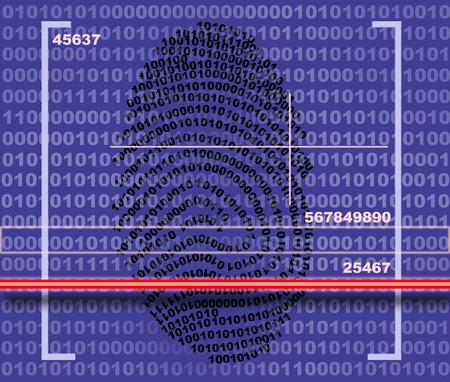 authorisation: Fingerprint scanner made in 2d software