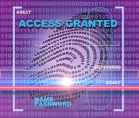 access granted: Fingerprint scanner. Access granted
