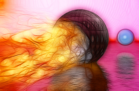 photoshop: Fireball  made in 3d max end hand painted in photoshop