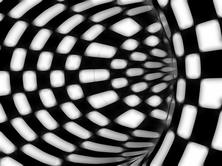 arts and entertainment: Black and white hypnotic tunnel made in 3d software