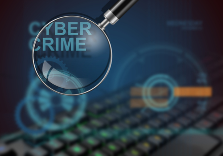 hi tech: hi tech infographics of cyber crime made in 3d software Stock Photo