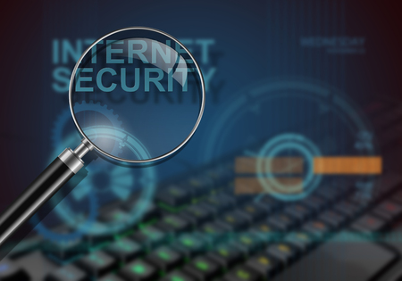 hi tech: hi tech infographics of internet security made in 3d software Stock Photo