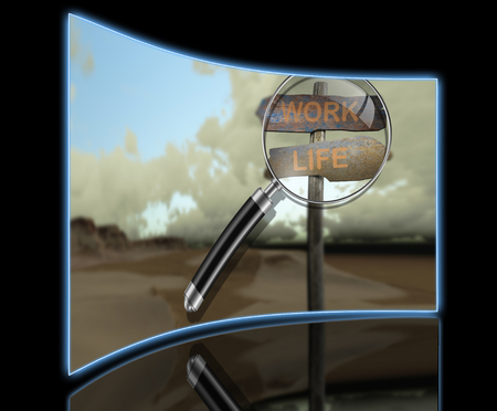 reflection of life: sign direction work - life made in 3d software