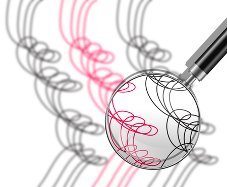 etch glass: Abstract line Art made in 2d software Stock Photo