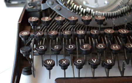 needless: Old typewriter with paper, close up
