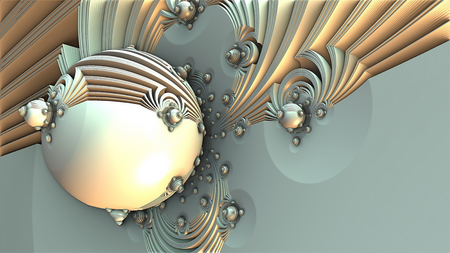 rendered: abstract geometric composition 3d illustration Stock Photo
