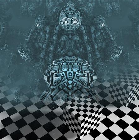 3d  illustration: abstract geometric composition 3d illustration Stock Photo
