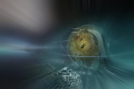 alien planet: Alien Planet - 3D Rendered Computer Artwork