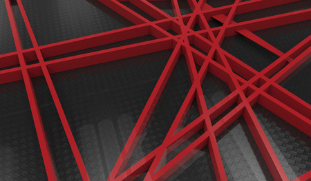 chaos: 3d render of red chaos mesh isolated on black  background