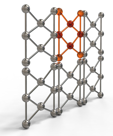 mesh structure: 3d render illustration of molecular mesh structure isolated on white background