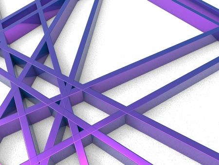 chaos: 3d render of violet chaos mesh isolated on white background Stock Photo