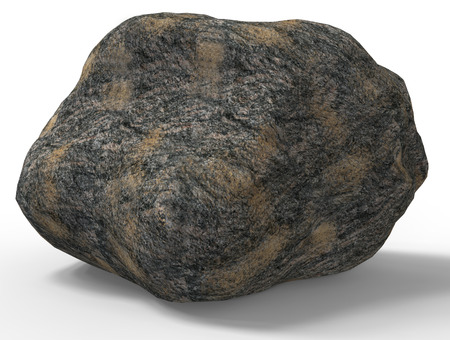 rock stone: 3d render of rock stone  isolated on white.