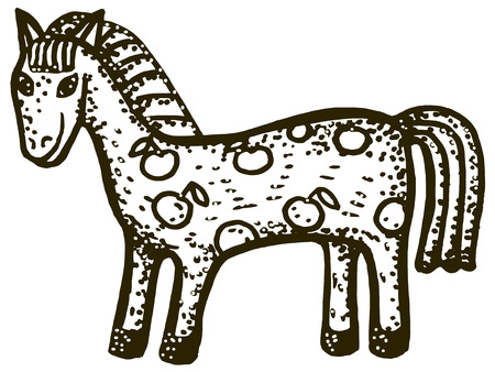 horsehair: sketch illustration of horse Illustration