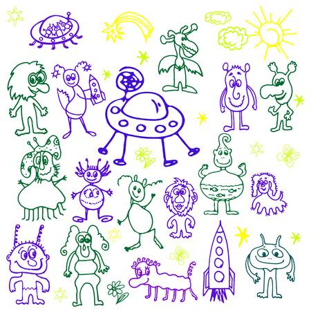 괴물의 손으로 그린, 만화, 스케치 그림 일러스트