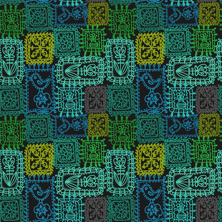 tracery: Vector graphic, artistic, stylized image of tracery seamless pattern, crochet