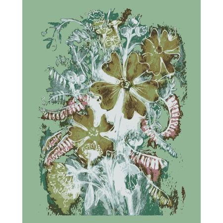 ramo de flores: dibujado a mano, dibujo animado, ejemplo esbozo de acuarela Vector ramo de flores