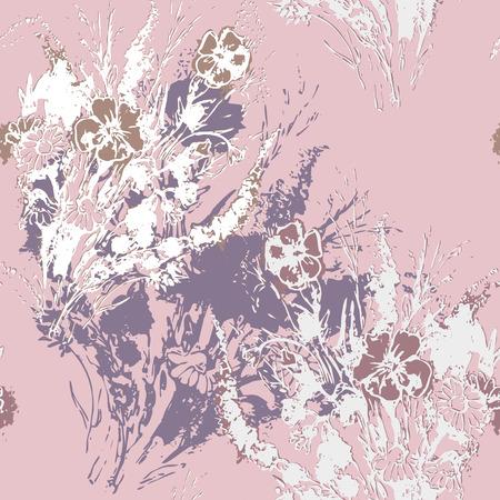 ramo de flores: Vector gr�fico, art�stico, imagen estilizada de patr�n transparente flores ramo de la acuarela