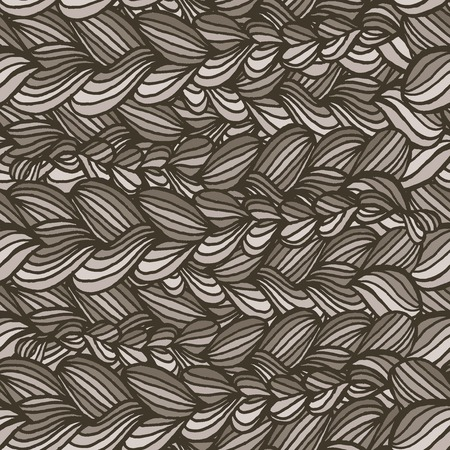 Vector graphics, artistic, stylized seamless pattern  background  with interweaving of braids. Abstract  background in the form of decorative braided pigtails. Illustration