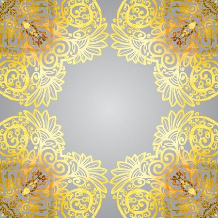delicate: Vector seamless background delicate oriental watercolor. Illustration