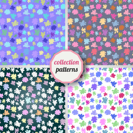 """""""paint can"""": Set of Vector seamless pattern with the image of multi-colored smudges, stains, paint. Can be used for design pattern fabric, wallpaper, wrapping paper. Illustration"""