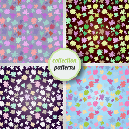 smudges: Set of Vector seamless pattern with the image of multi-colored smudges, stains, paint. Can be used for design pattern fabric, wallpaper, wrapping paper. Illustration