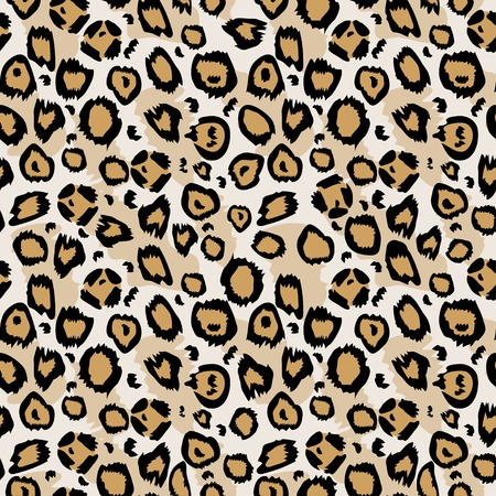 sensory perception: Vector seamless pattern. Design animal print pattern texture skins leopard. Can be used for design pattern fabric, wallpaper, wrapping paper Illustration