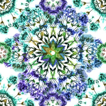 Graphique de vecteur, artistique, l'image romantique de Seamless aquarelle bouquet de fleurs sur un fond blanc. Peut être utilisé pour le tissu de modèle de conception, papier peint, papier d'emballage Vecteurs
