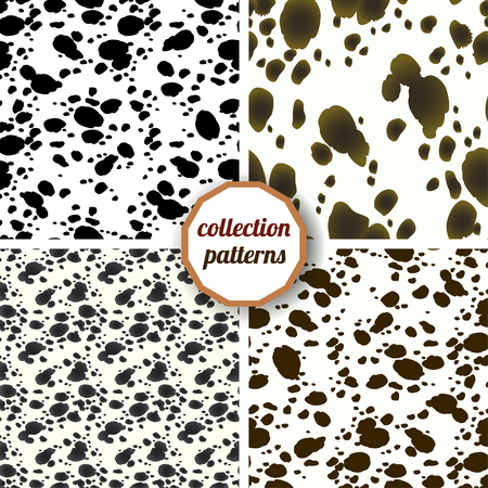 wrapping animal: Set of seamless pattern. Design animal print pattern texture skins Dalmatians. Can be used for design on fabric, wallpaper, wrapping