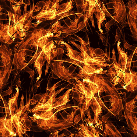 hellfire: Vector image seamless pattern with flames of fire. Images of fire, fire. Fire show. Image of hellfire Stock Photo