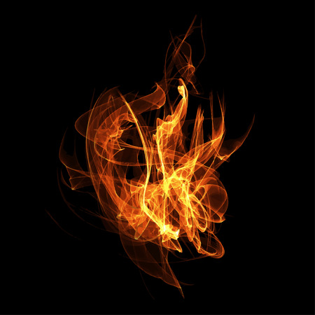 hellfire: Vector image of a fire flame. Images of fire, campfire. Fire show.  Image of hellfire.