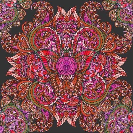 Graphique de vecteur, artistique, motif sans couture décorative avec fleurs stylisées aquarelle Banque d'images - 56918432