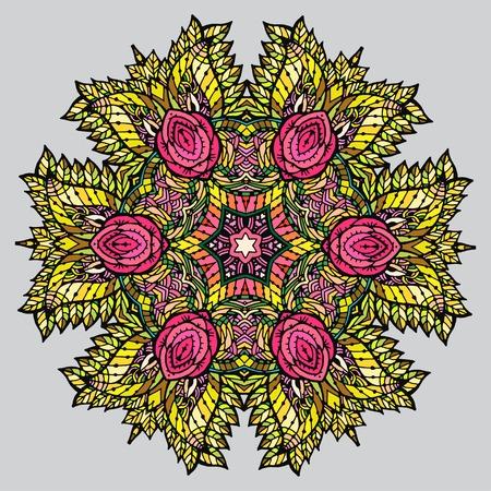 Vectoriel Doodle, dessin pour colorer la mandala.It peut être utilisé comme un élément de design décoratif pour des livres de coloriage. Vêtements pour les impressions sur, pour les livres de design. Banque d'images - 56918435