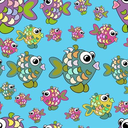 Seamless de poissons colorés. Peut être utilisé pour le tissu de modèle de conception, papier peint, papier d'emballage. Banque d'images - 56918436