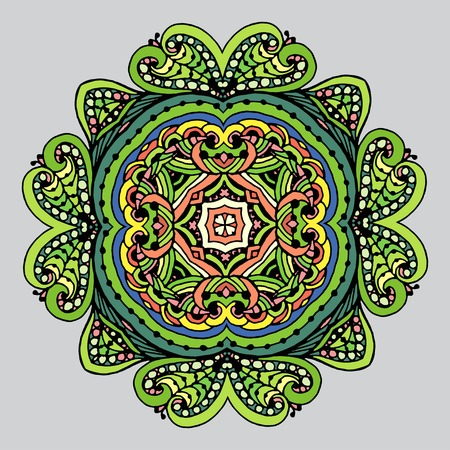 Vector Image Doodle, drawing for coloring the mandala.It can be used as a decorative design element for coloring books. Clothing for prints on, for design books.
