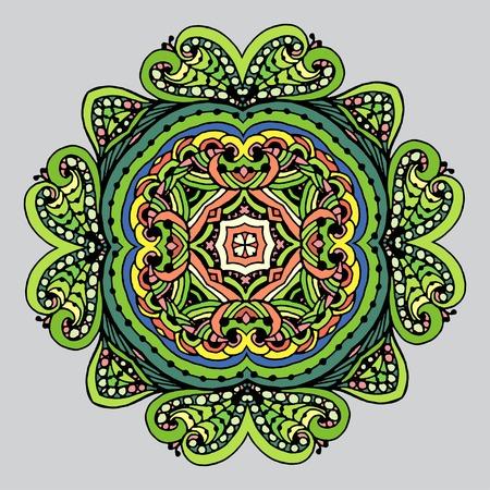 Vectoriel Doodle, dessin pour colorer la mandala.It peut être utilisé comme un élément de design décoratif pour des livres de coloriage. Vêtements pour les impressions sur, pour les livres de design. Banque d'images - 56918437