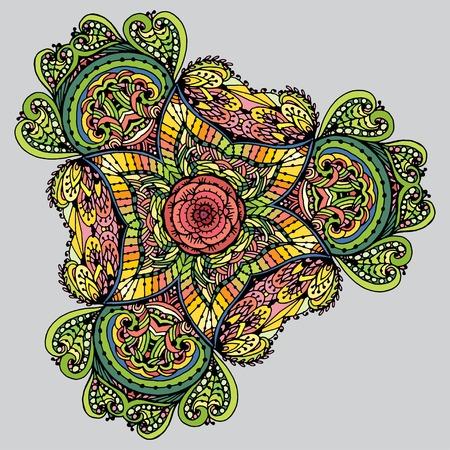 Vectoriel Doodle, dessin pour colorer le mandala. motif triangulaire. Il peut être utilisé comme un élément de design décoratif pour des livres de coloriage. Vêtements pour les impressions sur, pour les livres de design. Banque d'images - 56918459