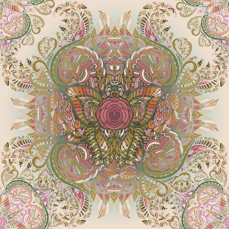 Vector seamless background delicate oriental watercolor. Beautiful pattern for design  and  decoration. Exquisite pattern for design of watercolor sketches of the flower.  Trendy print.