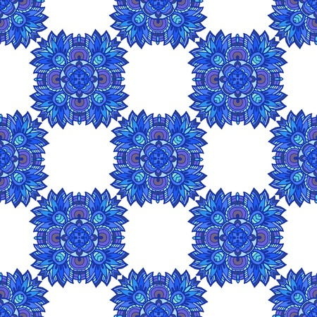Vector graphic, artistic, Decorative seamless pattern with stylized flowers watercolor Иллюстрация