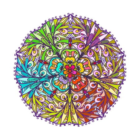 Vector image of a decorated mandala. It can be used to design postcards. For coloring books. Print on clothes.