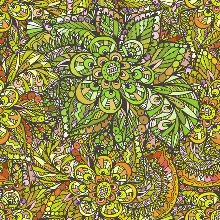 Modèle sans couture de vecteur sur les motifs indiens, délicate aquarelle orientale. Beau fond pour le design et la décoration. Design exquis des croquis aquarelles de la fleur. Impression à la mode. Banque d'images - 76241645