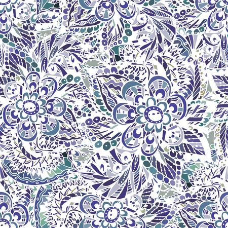 Modèle sans couture de vecteur sur les motifs indiens, délicate aquarelle orientale. Beau fond pour le design et la décoration. Design exquis des croquis aquarelles de la fleur. Impression à la mode. Banque d'images - 76241647