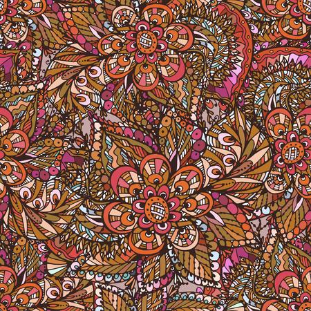 Vecteur sans soudure fond aquarelle orientale délicate. Beau motif pour le design et la décoration. Conception exquise des croquis aquarelle de la fleur. Impression à la mode. Banque d'images - 76241644