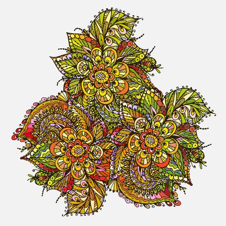 Vectoriel Doodle, dessin pour colorer le mandala. motif triangulaire. Il peut être utilisé comme un élément de design décoratif pour des livres de coloriage. Vêtements pour les impressions sur, pour les livres de design. Banque d'images - 76241656
