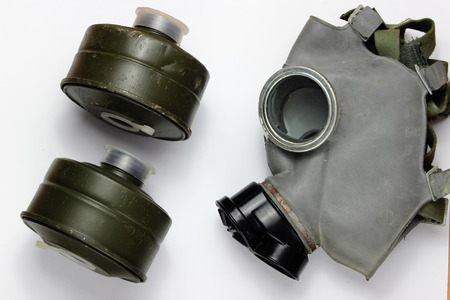 Gas mask and two filters