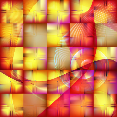 bright: Abstract Fantasy Bright Background. Illustration
