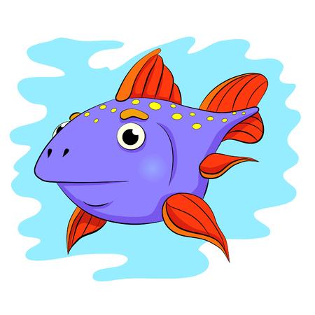 sedate: Cartoon little fish-moon.