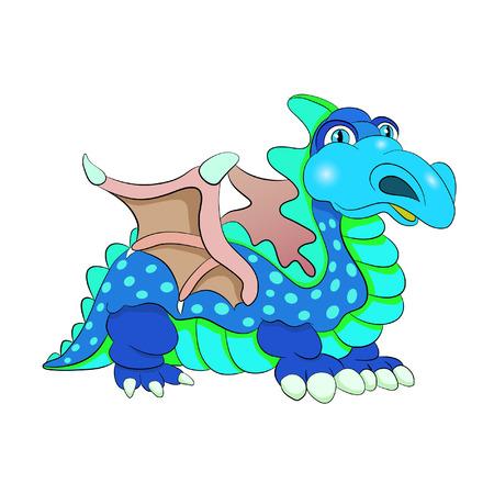 freaky: Cartoon amusing decorative dinosaur spotted.