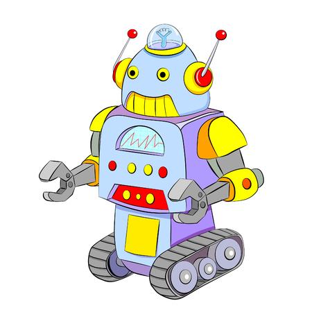 crawler: Cartoon colored robot crawler.