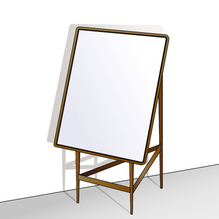 easel: Easel with a clean space for drawing. Illustration